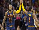 Lebron James e Kyrie Irving wallpaper
